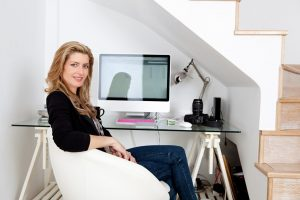 A Woman Working At Home