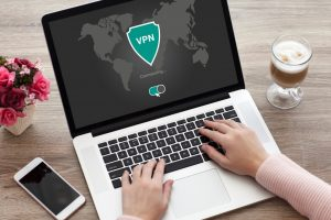 A Laptop With A VPN
