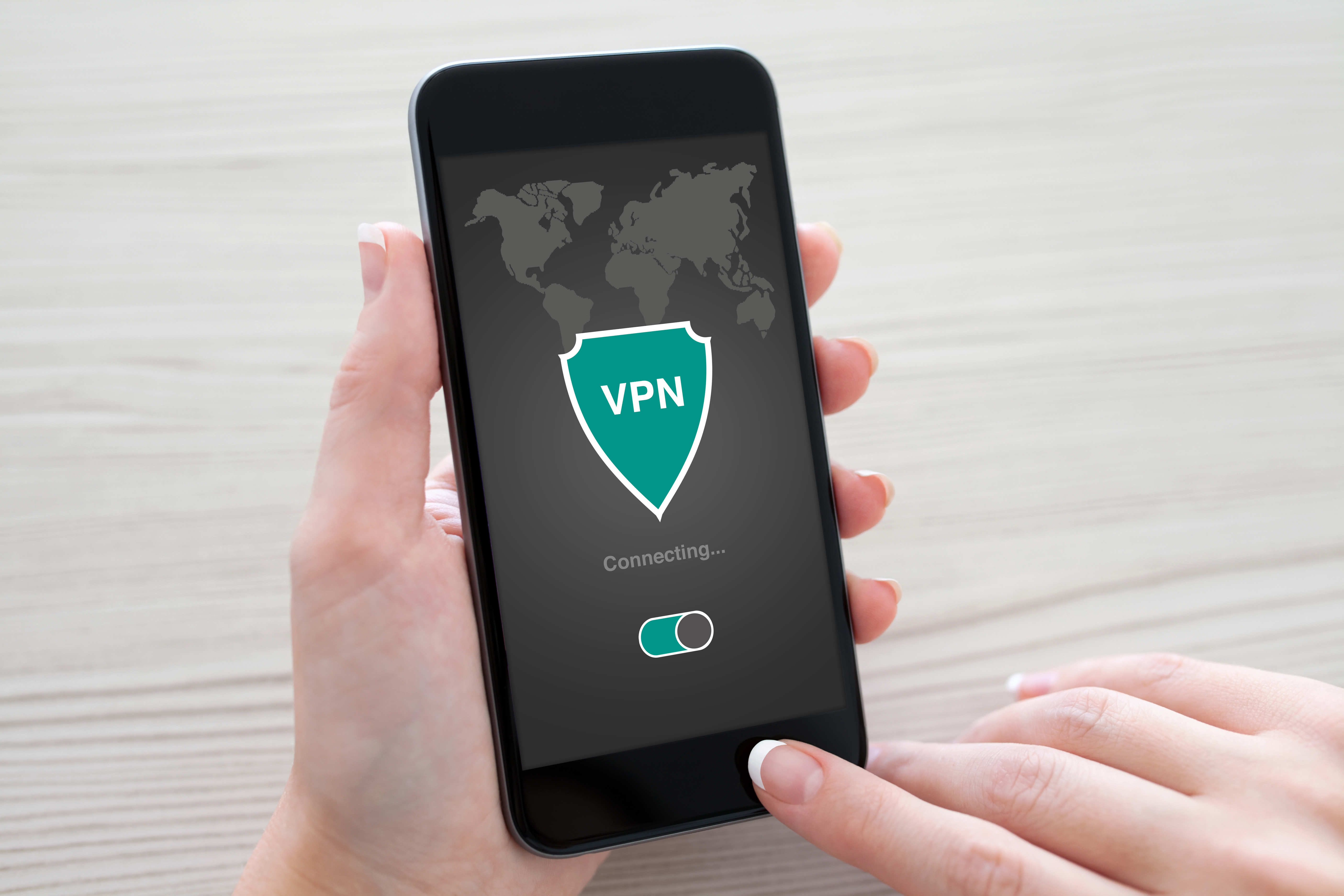 VPN Badge on a Smartphone