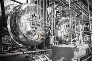 Steel Tubes and Pipes in a Manufacturing Plant