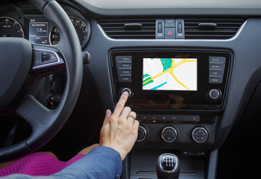 Navigation with car GPS