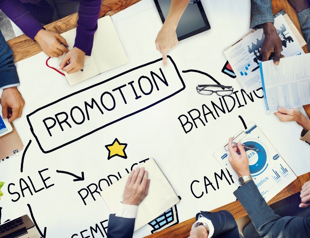 Promotion strategy concept